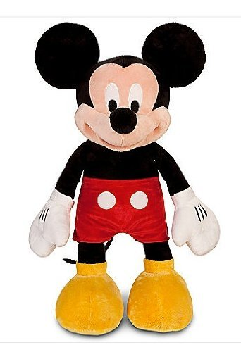 Mickey Mouse Disney Plush Toy,Red Shorts,Yellow Shoes,Large 25