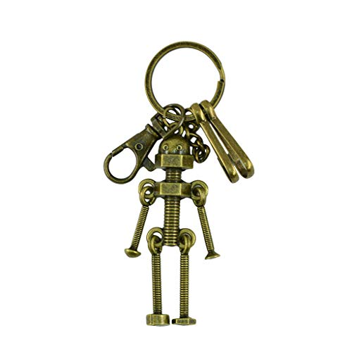 Plaques Address Irish - NATFUR Novelty Steampunk Lobster Screw Robot Pendant Key Ring Clips Hook Keychain Pretty for Women for Men Holder Perfect for Girls for Gift Beautiful Great Fine
