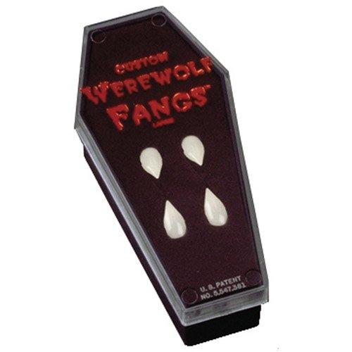 Werewolf Fangs In Coffin (Fangs Werewolf in Coffin Halloween Accessory)