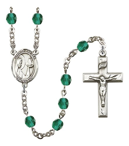 December Birth Month Prayer Bead Rosary with Our Lady Star of the Sea Centerpiece, 19 Inch (Our Lady Star Of The Sea Prayer)