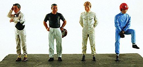 LE MANS miniatures Figures Set of 4 drivers