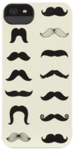 Griffin GB35945 Back Case - Trend - Mustachio - Apple iPhone 5/5S/5SE- Schwarz/Naturfarbe