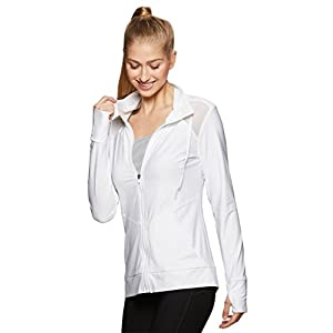 RBX Active Women's Jacket With Mesh Inserts White L