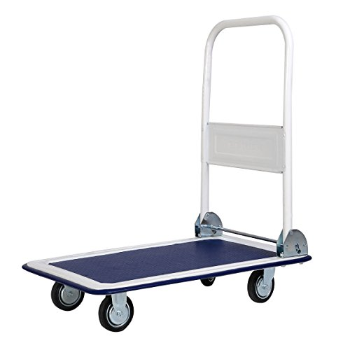 Cart Folding Dolly Platform 330lbs Push Hand Truck Moving Warehouse You Can Use This At Home Or Work Catering Very - Sugar Beach Reviews