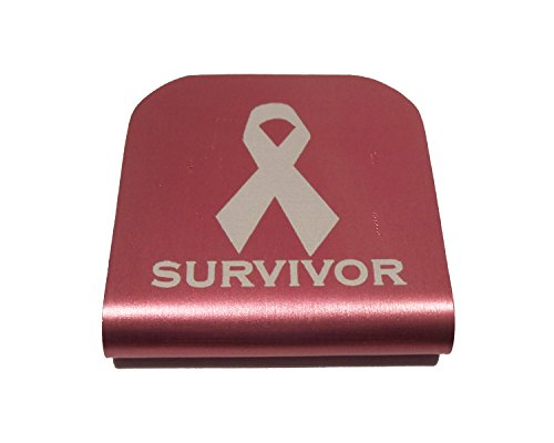 - Morale Tags Custom Breast Cancer Survivor Hat Clip for Tactical Patch Caps (Pink)
