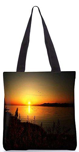 Snoogg Sonne Aufgeht Einkaufstasche 13,5 X 15 In Einkaufstasche Dienstprogramm Trage Von Polyester Canvas