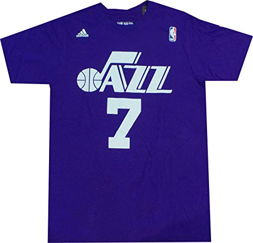 New Orleans Jazz Pete Maravich Throwback Adidas Purple T Shirt -