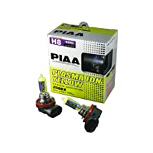 PIAA 18535 H8 Plasma Ion Yellow Bulb, Twin Pack