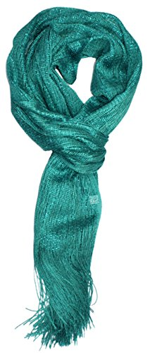 Shimmer Scarf (Ted and Jack - Saturday Night Sparkle Knit Shimmer Scarf in Aquamarine)