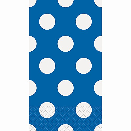 Royal Blue Polka Dot Paper Guest Napkins, 40ct - Guest Napkins Blue