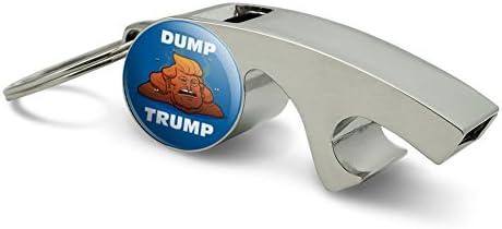 Dump Donald Trump con caca cromado Metal silbato con abridor ...
