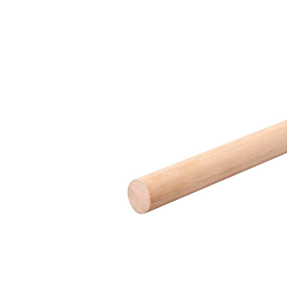 5 x Beech Wood Dowels Smooth Rod Pegs - 1m Length, 12mm Diameter MODERIX