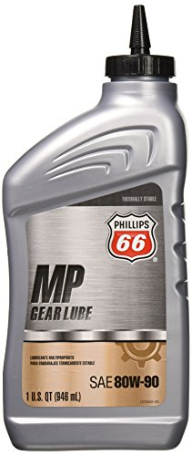 Philips 66 MP gear lube SAE 80w-90 1 Qt. motor oil, Pack of 3 by Yukon Gear