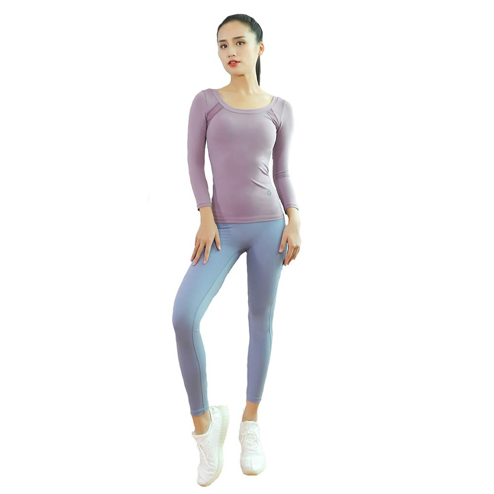 YMMONLIA Yoga Wear Set, Sport Fitness Yoga Damen Sportswear Wear/Weste und Top & Leggings Stretch-Fit Yoga Gym Set Trainingsweste Damen Trainingsbekleidung Weste Laufhose Yoga Anzug