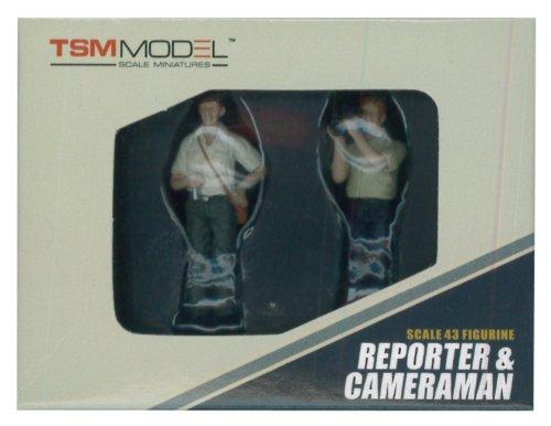 1/43 レポーター&TVカメラマン(2体セット) TSM13AC14