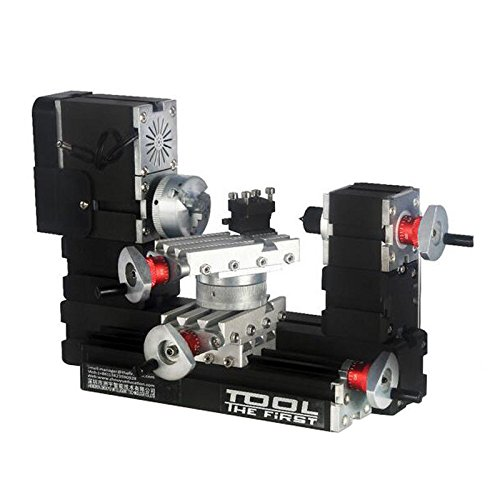 High Power Mini Metal Rotating Lathe Machine DIY CNC Wood Lathe Tools 12000r/min 60W with Adapter