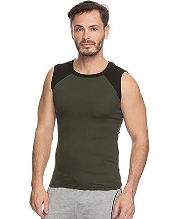 b7d2292fe8683 GenX Men s Cotton Sports Vest (Multicolour