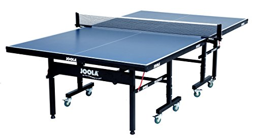 JOOLA Inside - Professional MDF Indoor Table Tennis Table with Quick Clamp Ping Pong Net and Post Set - 10 Minute Easy Assembly - USATT Approved - Ping Pong Table with Single Player Playback Mode ()