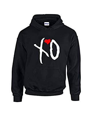 H&D Shirt Shoppers Hoodies For Men XO The Weekend Music Band Designed Pullover Hooded Sweatshirt(Black,Large)