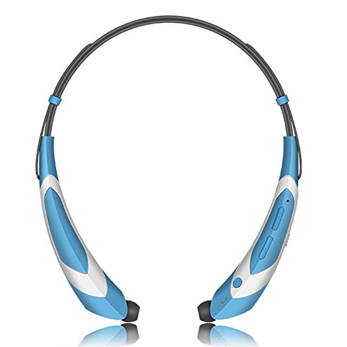 Wireless Bluetooth 4.1 Music Stereo Sports/Running Neckband Style Headset for Cellphone, Blue-Silver