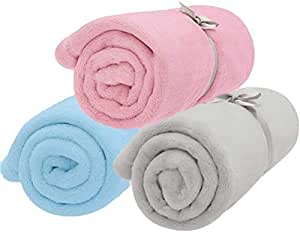 """SCENEREAL Fleece Dog Bed Throw Blanket - Best Soft Warm Cute Pet Crate Couch Cover Blankets 3 Pcs/Set for Small and Medium Dogs Puppy Cats 19.5"""" x 27.5"""""""