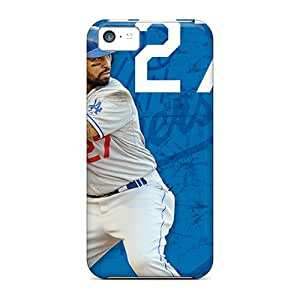 Iphone 5c XxZ12441iTkj Support Personal Customs Beautiful Los Angeles Dodgers Pattern Great Hard Cell-phone Case -Marycase88
