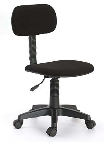 Hodedah Armless Task Chair, Black