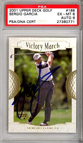 Sergio Garcia Autographed 2001 Upper Deck Golf Rookie Card Mint 9 27360771 PSA/DNA Certified Autographed Golf Equipment