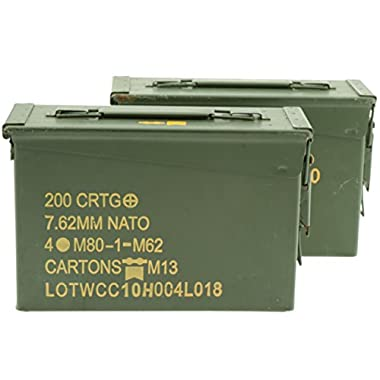 .30 Caliber Ammo Can, Military Surplus, Grade 1 (2 Pack)