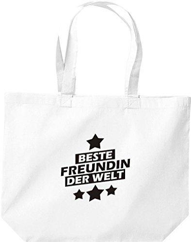 Shirtstown - Bolso de tela de algodón para mujer weiss
