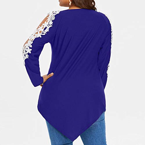 Rambling Criss Cross Sexy Women Off Shoulder Lace Top Long Sleeve Blouse Ladies Casual Tops Shirt Plus Size by Rambling (Image #1)