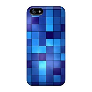 Premium Eqe1643AEqm Cases With Scratch-resistant/ Blue Tiles Cases Covers For Iphone 5C