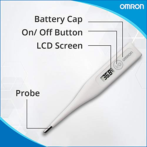 Amazon.com: Omron MC-246 (MC246) 60 Second Digital Rigid Thermometer: Health & Personal Care