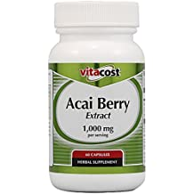 Vitacost ACAI BERRY EXTRACT (2 Bottles) -- 1000 mg per serving- 120 Capsules