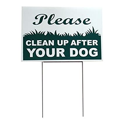 Yard Signs, Lawn Signs, Garden Signs , No Dog Poop Sign   Sign Reads