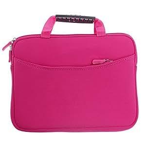 Conseguir Bolso de moda Poliéster Estilo protector + Esponja bolso de la bolsa para el iPad (de color rosa oscuro)