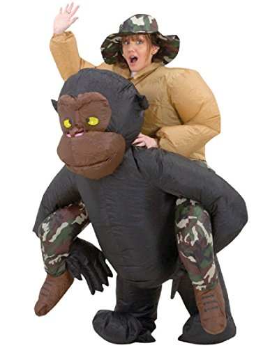 Riding Gorilla Adult Inflatable Costume -