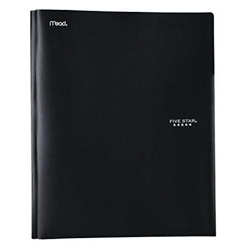 Five Star 2-Pocket Folder with Prong Fasteners, Folders with Pockets, Plastic, Color Will Vary (34823)