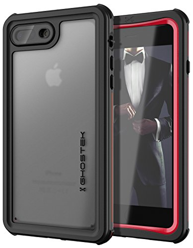 Ghostek Nautical Shockproof Waterproof iPhone 8 Plus/iPhone 7 Plus Case Cover Supports Wireless Charging | - Phone Covers Wireless