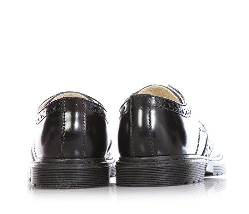 FLORENS - Schwarzer Halbschuh aus Glanzleder, mit Lochmuster, sichtbare Nähte und Gummisohle, Mädchen