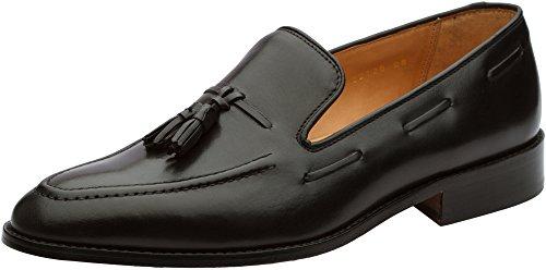 3DM Lifestyle Men's Tassel Slip-On Leather Loafer US 11-11.5 Black
