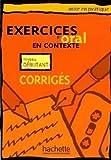 Exercices d'oral en contexte niveau débutant. : Corrigés