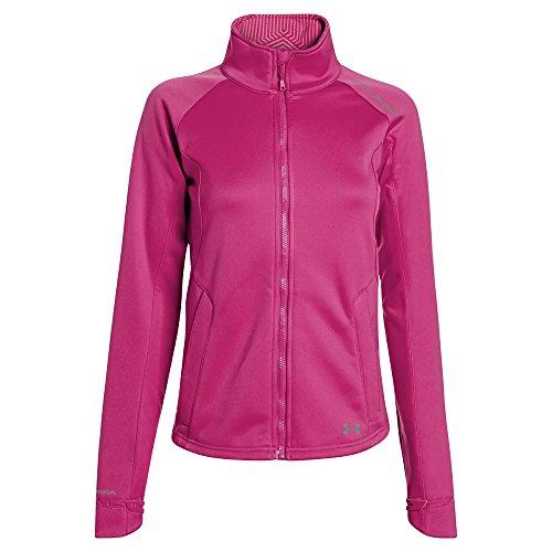 Under Armour Women 's ColdGear infrarrojos softershell chaqueta Fuchisa Rose Steeple Gray