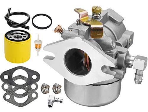 (LEIMO New Carburetor Carb + Oil Filter for Kohler Magnum and K-Twin Engines Including M18 MV18 M20 MV20 KT17 KT18 KT19 52-053-09 52-053-18 52-053-28)