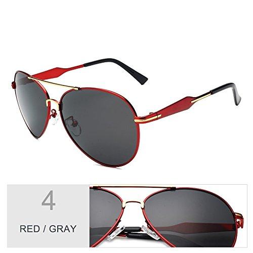 TIANLIANG04 Polarizadas Clásicas Fresco Nocturna Gafas Red Gafas Aviador Hombres Gun Piloto A Gafas De Guiar Visibilidad Gris Para Sol Los Gray Lentes znzqwrSY