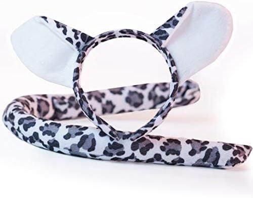 Snow Leopard Headband