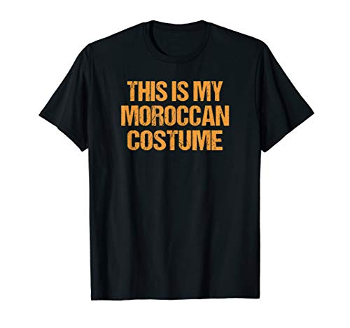 Moroccan Halloween Shirt Easy Lazy Last Minute Costume
