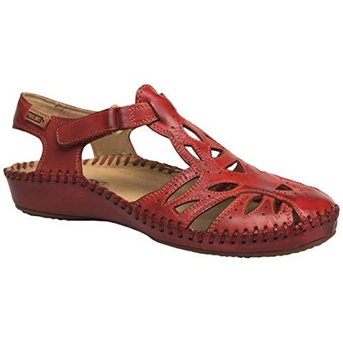 PIKOLINOS Womens Puerto Vallarta 655-8312 Leather Coral Sandals 8.5-9 US