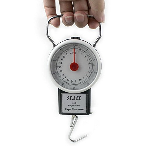 2 in 1 22KG 50LBS Portable Scale Luggage Travel Scale Hanging Suitcase Hook with 1M Flexible - Suit Rules