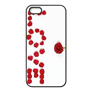Brand New Phone Case for iPhone 5,5S with diy Happy flowers